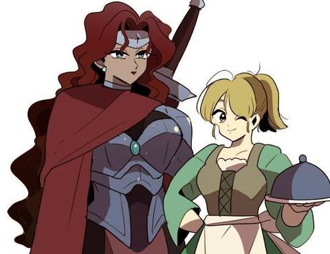 女戰士與小服務員